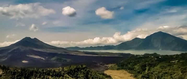 View of Mt.Batur and Batur Lake from Kintamani village